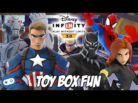 Avengers Disney Infinity Toy Box Fun Gameplay Part 2