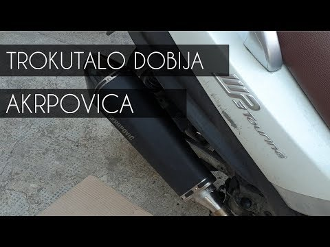 Piaggio MP3 500 Tuning - Akrapovic Exhaust