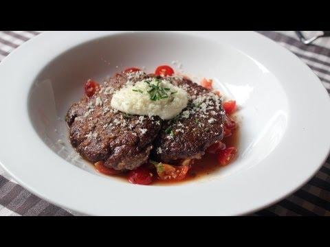 Beef Medallions with Fresh Horseradish Cream and Cherry Tomato Salad