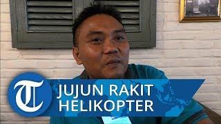 Jujun Junaedi Rakit Helikopter untuk Ciptakan Kendaraan Alternatif Pengurang Macet