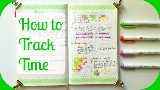 How to Track Time in your Bullet Journal | A Beginner's Guide to Time Tracking | The Boosted Journal