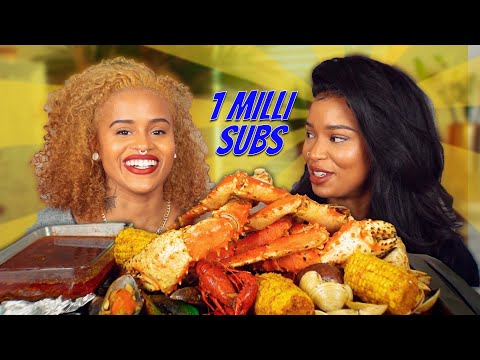 Download ONE MILLION SUBSCRIBERS KING CRAB SEAFOOD BOIL MUKBANG GIVEAWAY HD Mp4 3GP Video and MP3