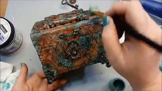 Patina Altered Box For Art Anthology W/ Brandy Mixed Media Tutorial