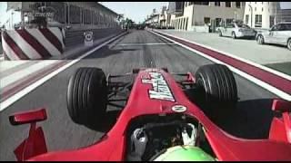 2007 Bahraini GP- Felipe Massa Victory Lap, HamiltonCAM