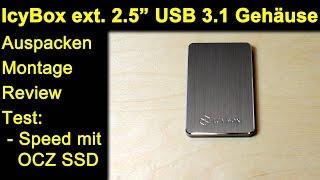 """IcyBox externes 2.5"""" USB 3.1 (Gen 2) Alu Gehäuse IB-234-U31a - Review Test mit OCZ Trion 960GB SSD"""