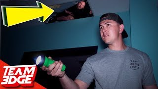 Midnight Hide and Seek in a Spooky Warehouse! | Hiding in the Ceiling!!