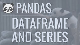 Python Pandas Tutorial (Part 2): DataFrame and Series Basics - Selecting Rows and Columns