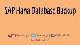 Sap Hana tutorial for beginners | SAP HANA Database Backup