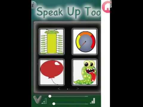 Screenshot of video: Sensory Speak Up App