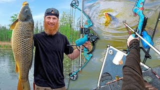 BOW FISHING 1000's of Giant Invasive Carp (30+ Fish Landed) | Catch, Clean, Cook!