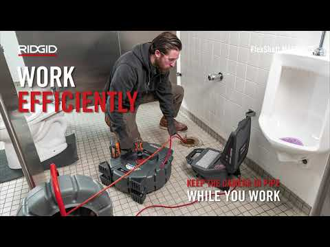 RIDGID FlexShaft™: Wall-toWall Drain Cleaning