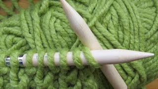 Beginners Knitting Rib for LEFT HANDERS (cast on, kn, Pu, rib)