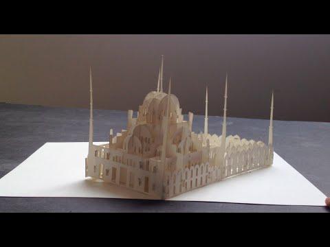 Sultanahmet Camisini Bir de Kirigami İle Görün