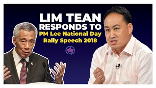 Lim Tean Responds to PM Lee National Day Rally Speech 2018