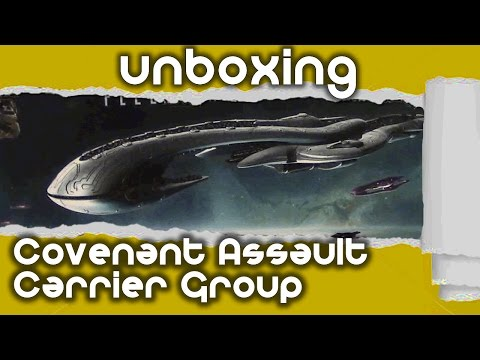 Halo Unboxing: Covenant Assault Carrier Group