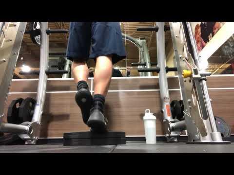 Smith Machine One Leg Calf Raise