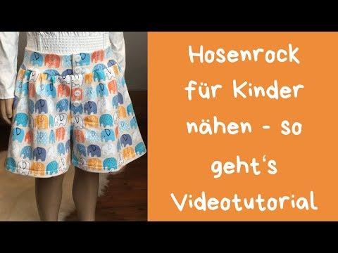 Hosenrock nähen - so geht's Videotutorial