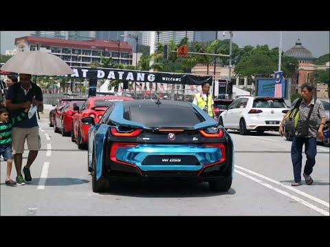 Download Kl Supercar Drag Race Bmw I8 Gtr 458 Italia Revving