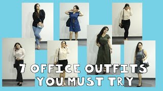7 DAYS OF WORK OUTFIT IDEAS | FORMAL | INFORMAL | OFFICE WEAR LOOKBOOK | MESSY CLASSY CHIC |