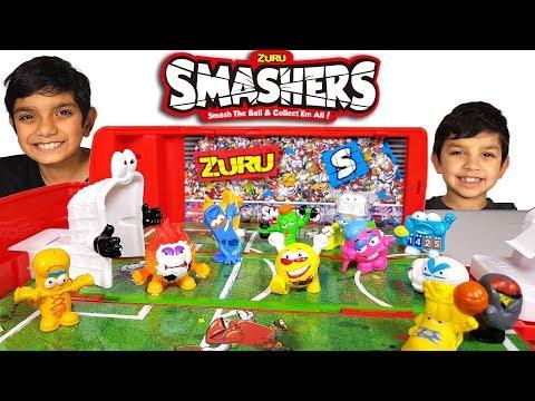 Коллекционные мячики с автобусом Zuru Smashers, 3 шт.