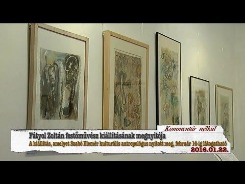 Hajdúnánási Televízió: Fátyol Zoltán kiállításának megnyitója