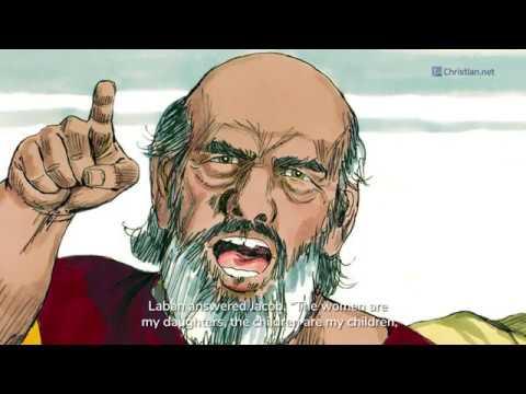 Genesis 31: Jacob Flees From Laban   Bible Stories (2020)