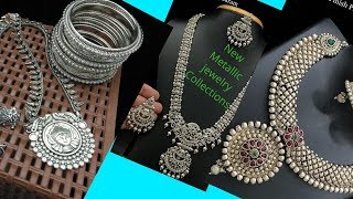 New Metal Jewelry Collections Ll Metalic Jewelries Ll Silver Color Jewelries