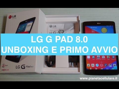 LG G Pad 8.0, unboxing e prime impressioni