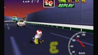 "Mario Kart 64 - Toad's Turnpike 1lap 59""64"