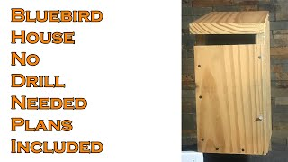 Bluebird House No Drill Needed