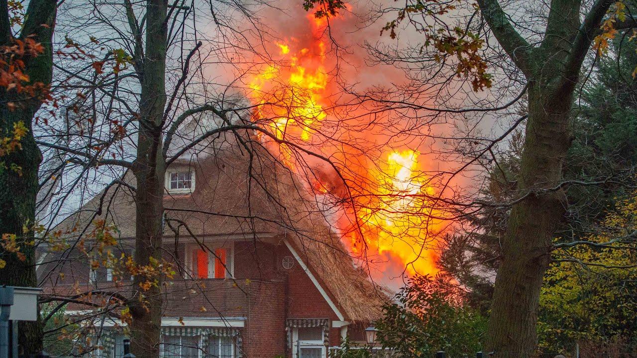 Grote brand verwoest Bussumse villa 🚒🚒🚒
