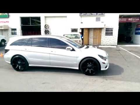 "DUBSandTIRES.com 24"" Inch KMC KM651 Slide Black Wheels Mercedes R350 Rims Miami Ft Lauderdale"