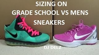 Sizing With Nike/Jordan Grade School GS VS Men Shoes With @DjDelz On The Sneaker Addict Show