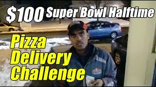 $100 Halftime Delivery Challenge (Papa Johns/Dominos/Pizza Hut/Little Caesars) - [Pizza Bowl 2016]