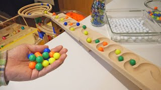 Marble Run Rolling Ball Wooden ASMR [DIY Special Course]