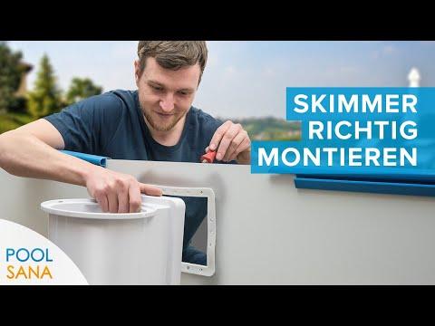 Pool Skimmer Einbau - So montieren Sie Oberflächenabsauger an Ihren Stahlwandpool   POOLSANA