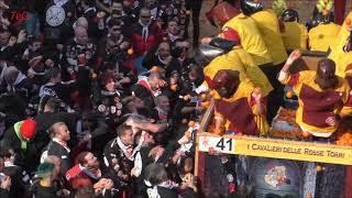 Battaglia arance in piazza - 11 febbraio - Carnevale Ivrea 2018