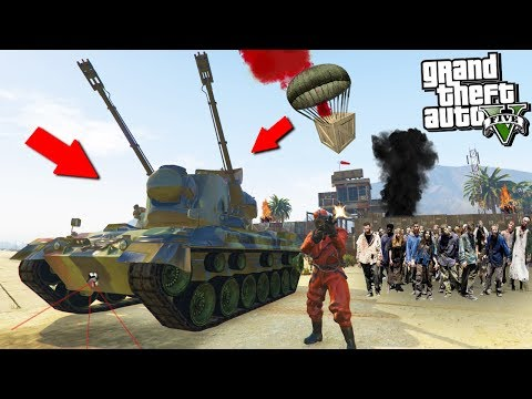 GTA 5 ZOMBIE MOD: STEALING THE ZOMBIE DESTROYER VEHICLE!!! (GTA 5 Mods)