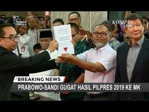 Resmi! BPN Prabowo-Sandi Serahkan Gugatan Hasil Pilpres ke MK