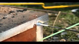 Glasperlenherstellung am offenen Feuer - Schichtaugenperle