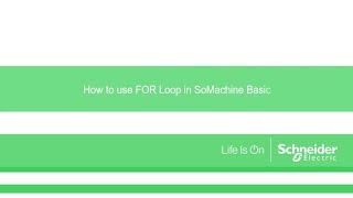 SoMachine Basic Programming - Free video search site - Findclip