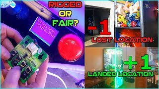 Are Our Claw Machines Rigged? Landing & Losing Locations