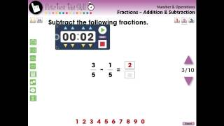 CC7305 Number & Operations: Fractions - Addition & Subtraction - Practice The Skill 2 Mini
