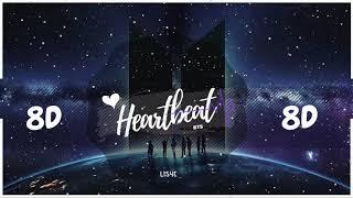 💜🌙 [8D AUDIO] BTS   HEARTBEAT | BASS BOOSTED | [USE HEADPHONES 🎧] 방탄소년단 | BTS WORLD