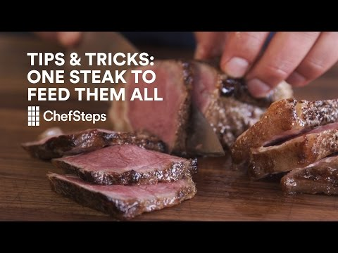 Save Time By Feeding All Of Your Guests From One Giant Steak
