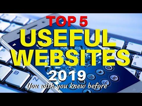 Top 5 Most Useful Websites 2019 | Best websites | Interesting Websites