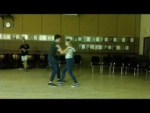 Swing Dancing, Hannah Walker and Cole S. at the Florida State University Swing Dance Club