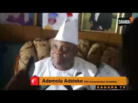 Adeleke: Opposition Knows That If Osun Election Is Free And Fair, I'll Win