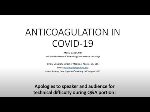 Rozważania dotyczące antykoagulacji i zakrzepicy związanej z COVID-19 wśród pacjentów ambulatoryjnych