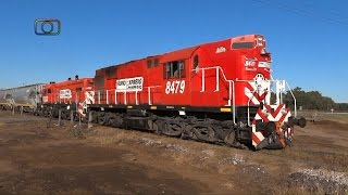 preview picture of video 'Tren de FEPSA proveniente de Ingeniero White entrando a Catriló'